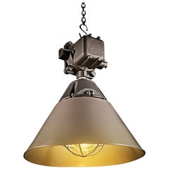 1970s OWP-125 Explosion-Proof Industrial Lamp