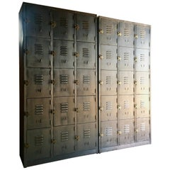 Fabulous Industrial Metal Lockers Thirty Cabinets Loft Style Brushed Steel