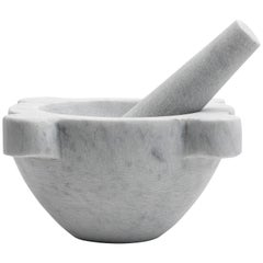 White Marble Mortar and Pestel