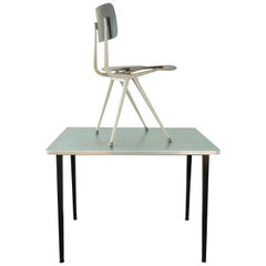 Small Industrial Desk Table Set by Friso Kramer for Ahrend de Cirkel, 1950s