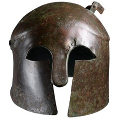 Ancient Greek Apulo-Corinthian Bronze Helmet, 6th Century BC