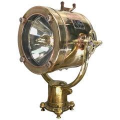 1970s Japanese Brass Signalling Projector Lamp, Shonan Kosakusho Tokyo