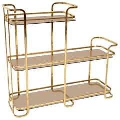 1970s Vintage Italian Brass Side Table / Cabinet