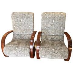 Pair of Art Deco Midcentury Armchairs