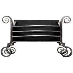 Large Scrolled Wrought Iron Firebasket in the Arts & Crafts Manner