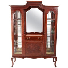 Edwardian Inlaid Mahogany Display Cabinet by Maple & Co