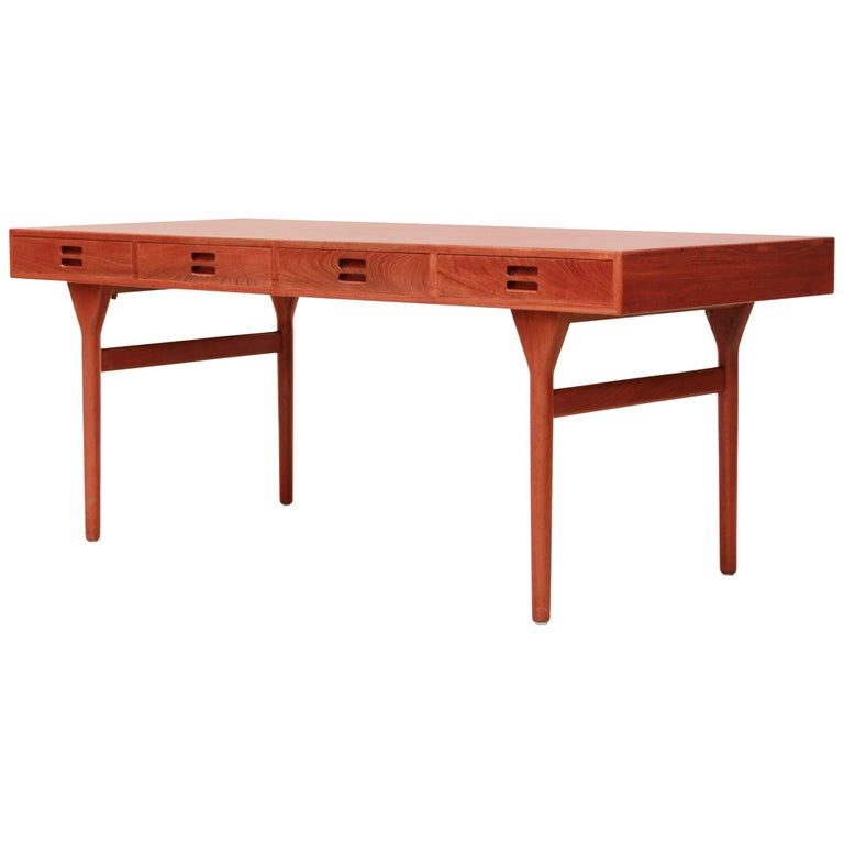 Nanna & Jorgen Ditzel Teak Desk with Four Drawers for Søren Willadsen, 1950s