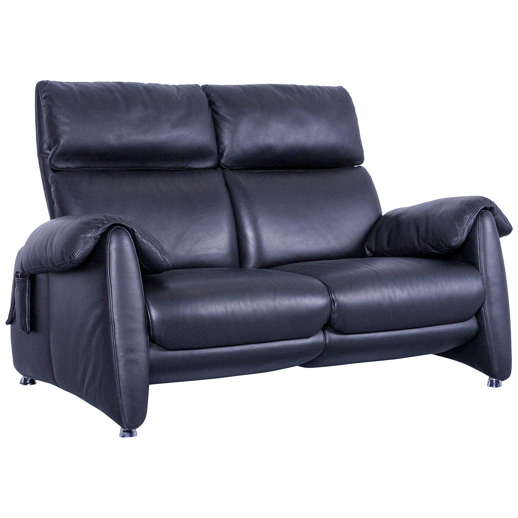 Delicieux Designer Sofa, Black Leather Two Seat Couch, Modern Electric Recliner For  Sale
