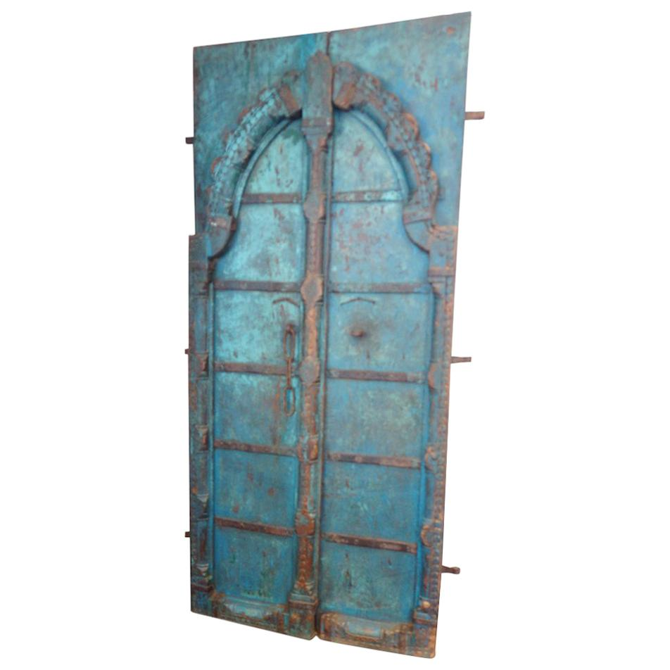 Indian Carved Teak Doors with Original Paint  sc 1 st  1stDibs & Antique and Vintage Doors and Gates - 1156 For Sale at 1stdibs