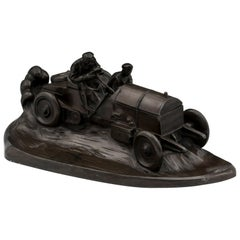 Mercedes Benz Racing Car Inkwell by Kayser of Germany