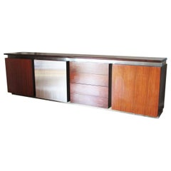 1970 Stainless Steel Sideboard by Giotto Stoppino