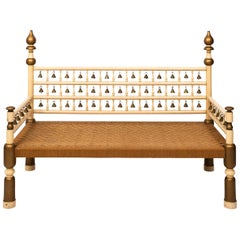 Anglo-Indian Palace Bench with Bells