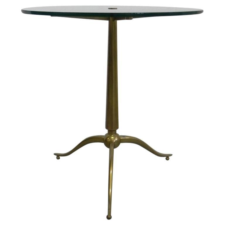 Side Coffee Table in Brass by Osvaldo Borsani, 1950