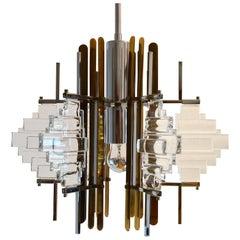 Italian Modernist Pendant Chandelier by Sciolari, 1960s