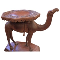 19th Century Anglo-Indian Carved Camel Table