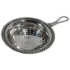 Antique European Silver Strainer