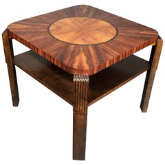 Art Deco Period Radiating Side Table, 1930s