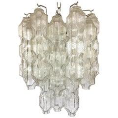 Venini Italy Murano Glass Mid-Century Modern Chandelier by Toni Zuccheri