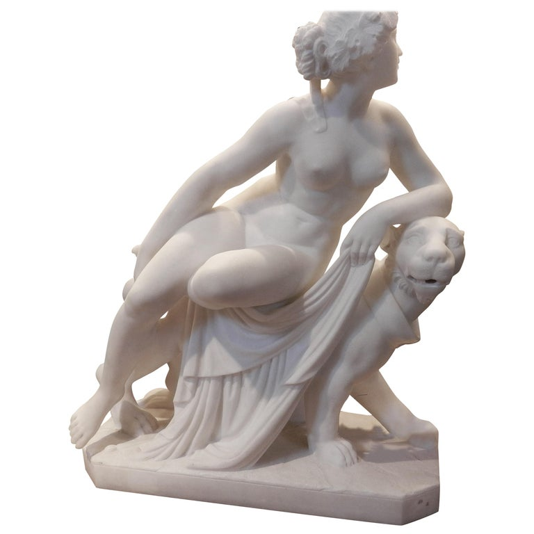 19th Century Italian Carrera Sculpture After Johann Heinrich von Dannecker For Sale