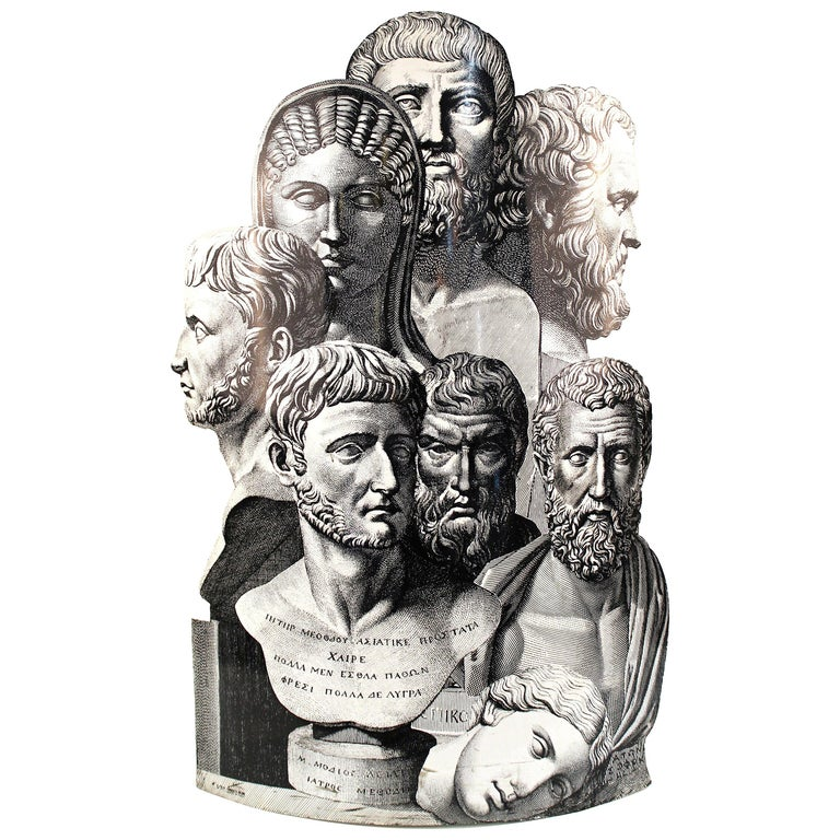 Fornasetti 'Teste Antiche' Umbrella Stand For Sale