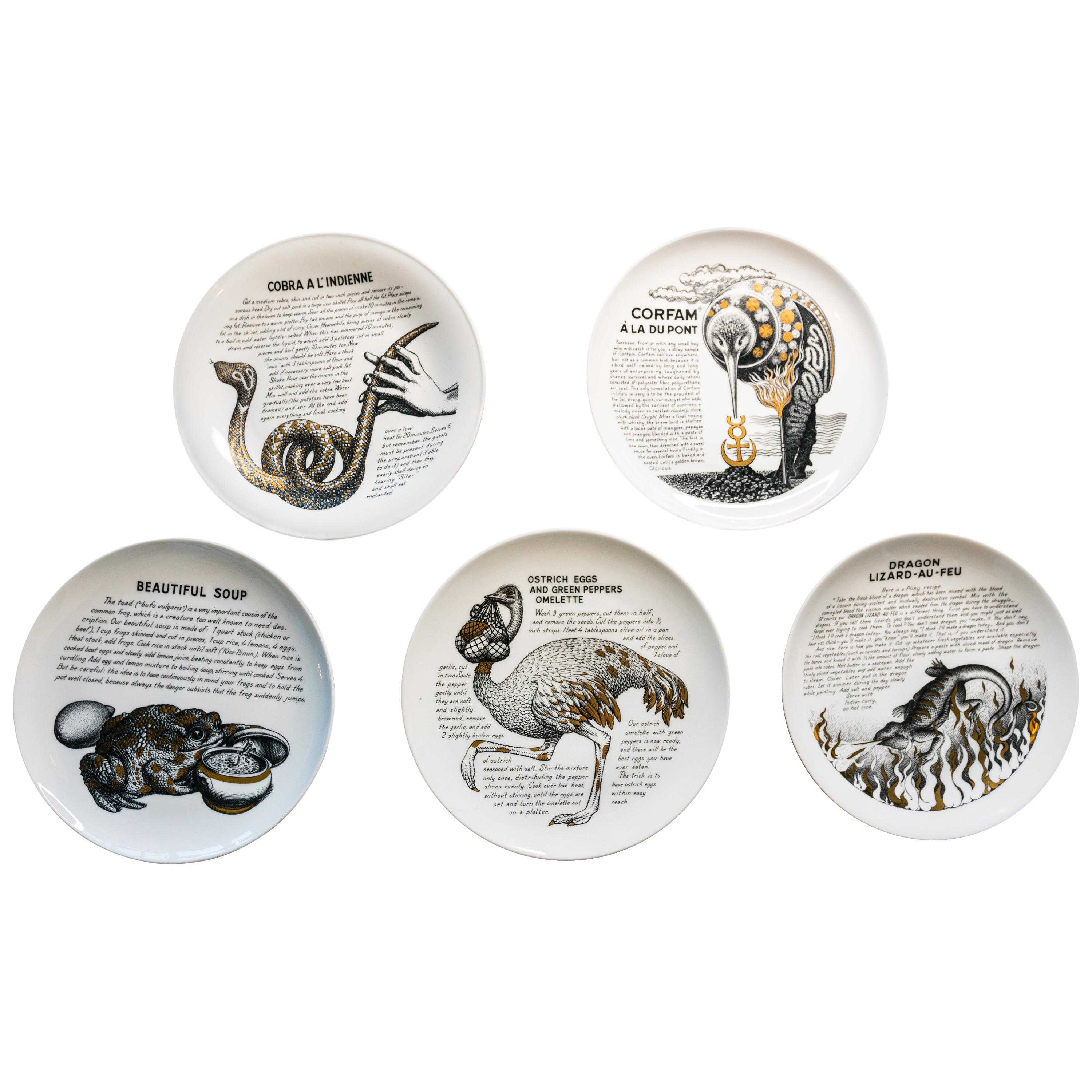 Five Piero Fornasetti Fleming Joffe Porcelain Recipe Plate-Vero-Pig Piccadilly  sc 1 st  1stDibs & Antique and Vintage Dinner Plates - 1051 For Sale at 1stdibs