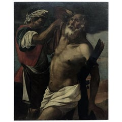17th Century Italian Martyrdom of Saint Andrew Lombard School Religious Painting