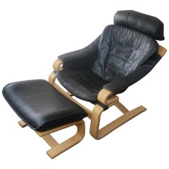 Danish 1970s Apollo Lounge Chair and Ottoman from Skippers Mobler