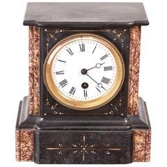 Small Victorian Marble Mantel Clock