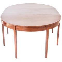 Quality Unusual George III Mahogany Dining Table