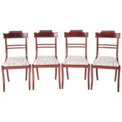 Quality Set of Four Regency Mahogany Dining Chairs
