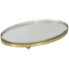 Gilt Reticulated Oval Dresser Tray