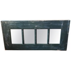 Primitive Country Mirror in Blue Green