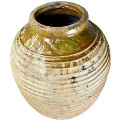 Large Ribbed Greek Terracotta Olive Jar, Garden Urn, circa 1840