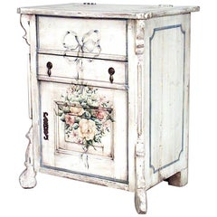 English Country Painted Bedside Commode