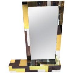 Paul Evans Midcentury Cityscape Mirror