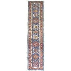 Antique Blue Persian Heriz Karadja Runner