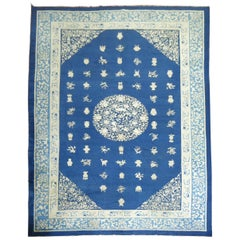 Blue Antique Chinese Rug