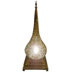 Intricate Moroccan Copper Lamp or Lantern, Table Lamp