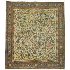Persian Malayer Pictorial Square Size Throw Rug