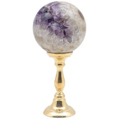 Brass-Mounted Amethyst Sphere Medium
