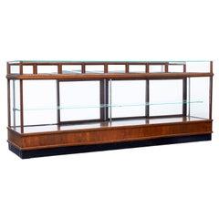Large Art Deco Scandinavian Teak Haberdashery Shop Cabinet