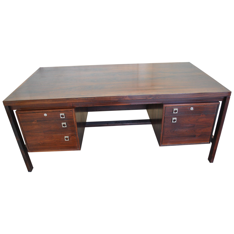 Midcentury Danish Rosewood Executive Desk by Arne Vodder for Sibast