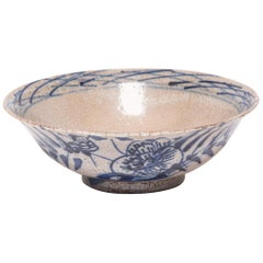 Early 19th Century Chinese Crackled Blue and White Bowl