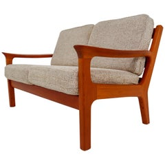 Two-Seat Sofa in Teak by Juul Kristensen and Glostrup Furniture, 1960s