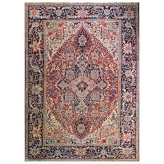Persian Heriz Carpet, Incredible Colors