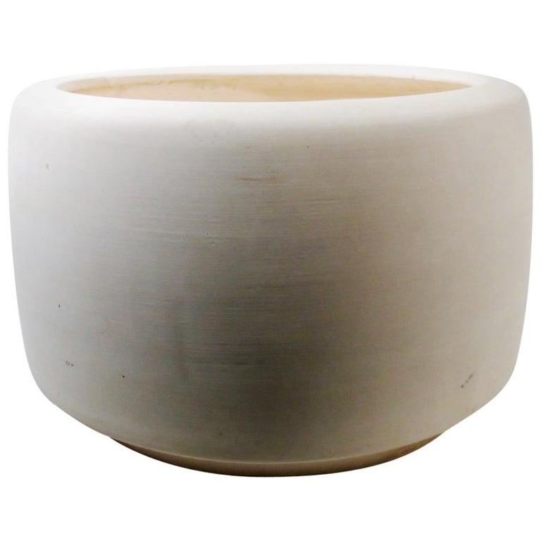 "John Follis & Rex Goode 1960s Architectural Pottery Bisque ""Tire"" Planter"