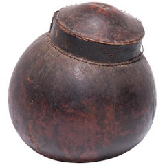 Early 20th Century Ivorian Senufo Lidded Gourd Vessel