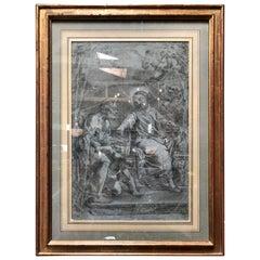 "G.B. Beinaschi, Rectangular Framed ""Figure Studies"", Italy, 17th Century"