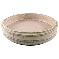 Kähler, Denmark, Glazed Large Stoneware Dish, 1960s