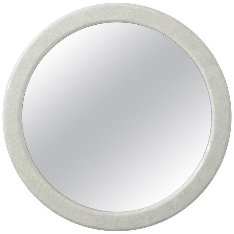 Large Round Karl Springer Style Mirror